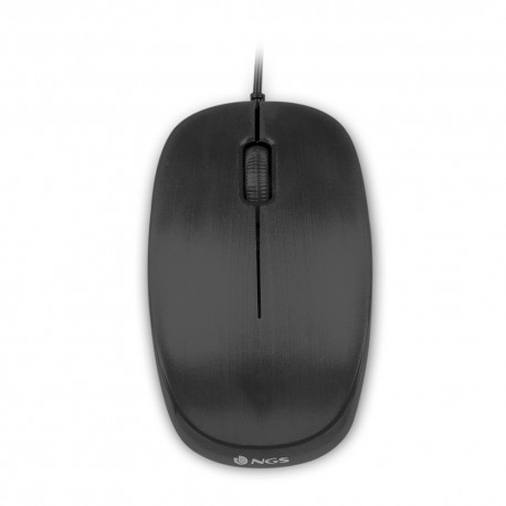 RATON NGS USB OPTICAL WIRED MOUSE FLAME BLACK